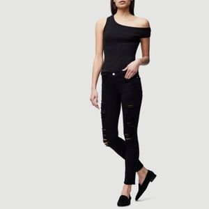 Frame Denim Le Jeanne de Skinny Destroyed Jeans